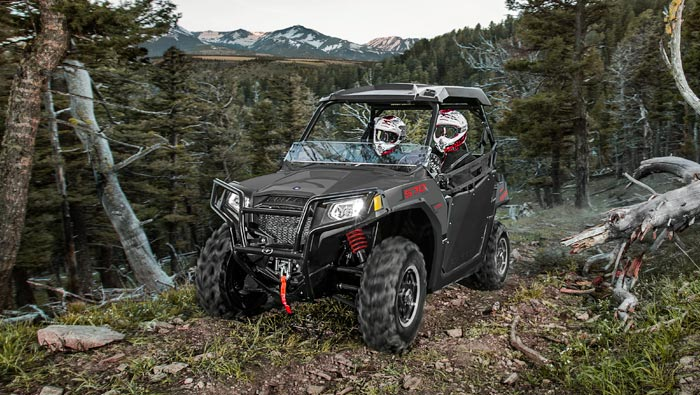"RZR 570 - ENGINEERED FOR 50"" TRAILS"