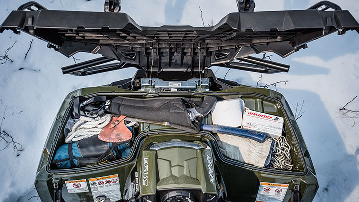SPORTSMAN 6X6 570 EPS - Carry Even More With The Industry's Only Integrated Front Storage